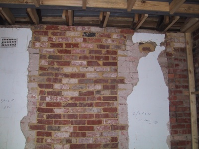 A crack in plaster wall to repair